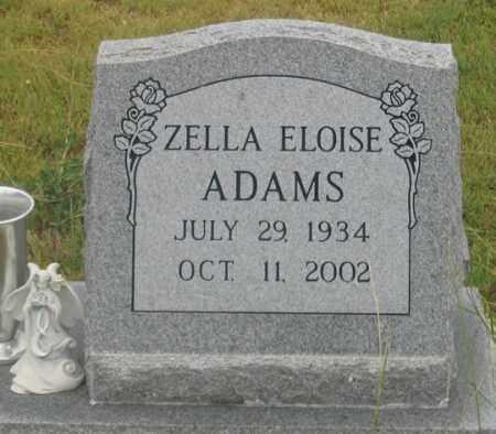 ADAMS, ZELLA ELOISE - Dundy County, Nebraska   ZELLA ELOISE ADAMS - Nebraska Gravestone Photos