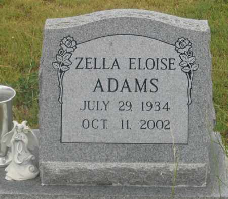 ADAMS, ZELLA ELOISE - Dundy County, Nebraska | ZELLA ELOISE ADAMS - Nebraska Gravestone Photos