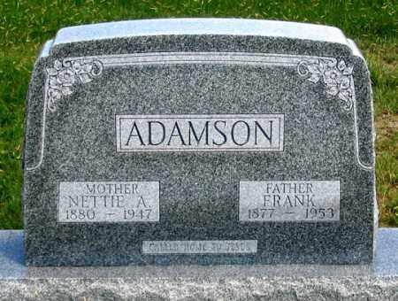 ADAMSON, JAMES FRANKLIN - Dundy County, Nebraska | JAMES FRANKLIN ADAMSON - Nebraska Gravestone Photos
