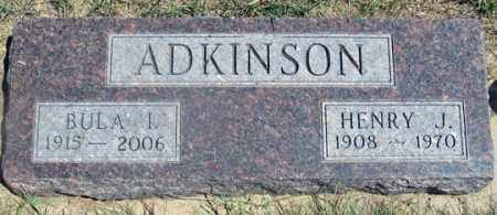 NICHOLSON ADKINSON, BULA I. - Dundy County, Nebraska | BULA I. NICHOLSON ADKINSON - Nebraska Gravestone Photos