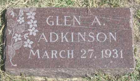 ADKINSON, GLEN A. - Dundy County, Nebraska | GLEN A. ADKINSON - Nebraska Gravestone Photos