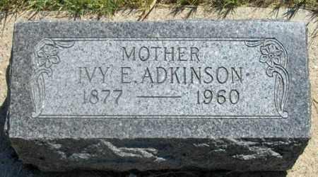 ADKINSON, IVY E. - Dundy County, Nebraska | IVY E. ADKINSON - Nebraska Gravestone Photos