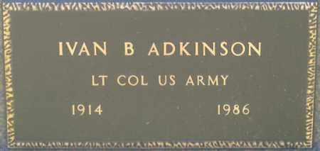 ADKINSON, IVAN B. - Dundy County, Nebraska   IVAN B. ADKINSON - Nebraska Gravestone Photos