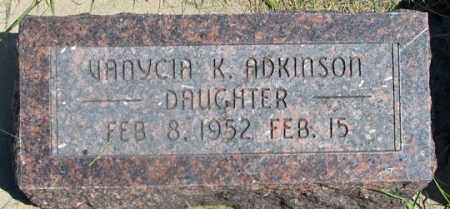 ADKINSON, VANYCIA K. - Dundy County, Nebraska | VANYCIA K. ADKINSON - Nebraska Gravestone Photos