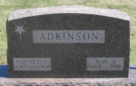 PRINGLE ADKINSON, VERNICE G. - Dundy County, Nebraska | VERNICE G. PRINGLE ADKINSON - Nebraska Gravestone Photos