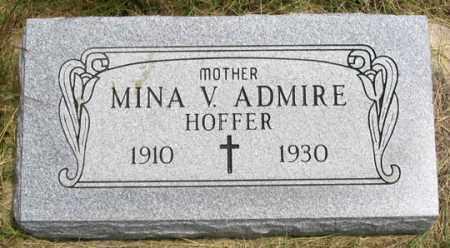 ADMIRE, MINA VIRGINIA - Dundy County, Nebraska | MINA VIRGINIA ADMIRE - Nebraska Gravestone Photos