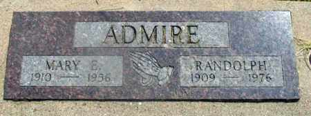 ADMIRE, MARY ELIZABETH - Dundy County, Nebraska | MARY ELIZABETH ADMIRE - Nebraska Gravestone Photos