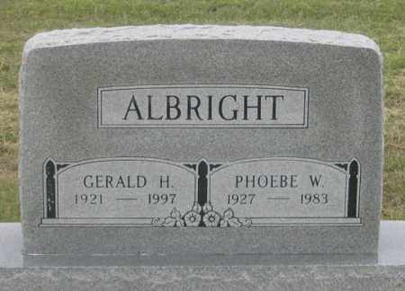 DANIELS ALBRIGHT, PHOEBE W. - Dundy County, Nebraska | PHOEBE W. DANIELS ALBRIGHT - Nebraska Gravestone Photos