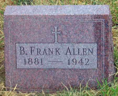 ALLEN, BENJAMIN FRANK - Dundy County, Nebraska | BENJAMIN FRANK ALLEN - Nebraska Gravestone Photos