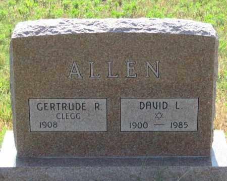 ALLEN, GERTRUDE R. - Dundy County, Nebraska | GERTRUDE R. ALLEN - Nebraska Gravestone Photos