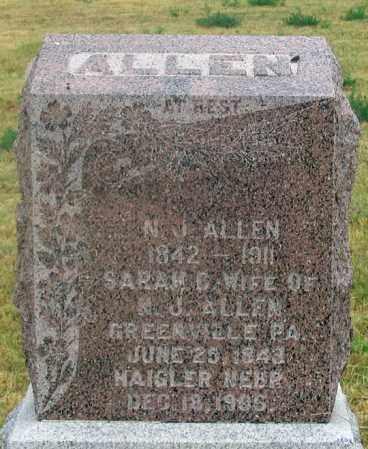 ALLEN, NORMAN JAMES, SR. - Dundy County, Nebraska | NORMAN JAMES, SR. ALLEN - Nebraska Gravestone Photos