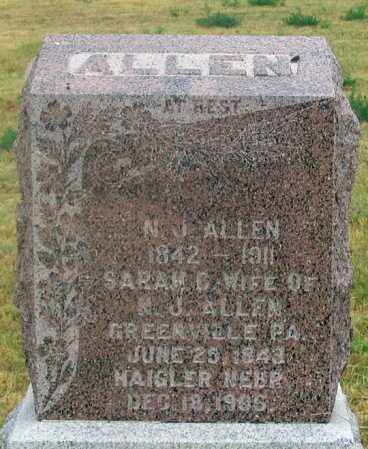 ALLEN, SARAH CATHERINE - Dundy County, Nebraska | SARAH CATHERINE ALLEN - Nebraska Gravestone Photos