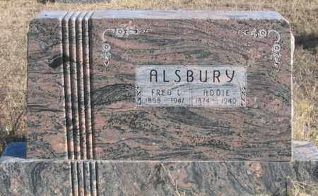 ALSBURY, ADDIE - Dundy County, Nebraska | ADDIE ALSBURY - Nebraska Gravestone Photos