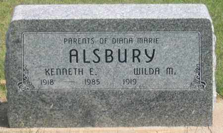 ALSBURY, KENNETH E. - Dundy County, Nebraska | KENNETH E. ALSBURY - Nebraska Gravestone Photos