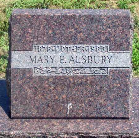 ALSBURY, MARY E. - Dundy County, Nebraska   MARY E. ALSBURY - Nebraska Gravestone Photos