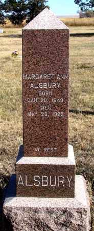 ALSBURY, MARGARET ANN - Dundy County, Nebraska   MARGARET ANN ALSBURY - Nebraska Gravestone Photos
