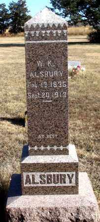 ALSBURY, WILLIAM K. - Dundy County, Nebraska | WILLIAM K. ALSBURY - Nebraska Gravestone Photos
