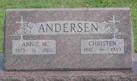 ANDERSEN (ANDERSON?), ANNIE M. - Dundy County, Nebraska | ANNIE M. ANDERSEN (ANDERSON?) - Nebraska Gravestone Photos