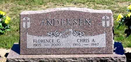 WEISS ANDERSEN, FLORENCE G. - Dundy County, Nebraska | FLORENCE G. WEISS ANDERSEN - Nebraska Gravestone Photos