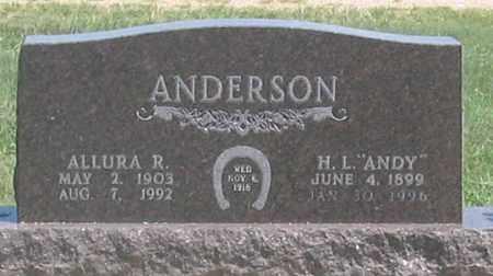 ANDERSON, ALLURA A. - Dundy County, Nebraska   ALLURA A. ANDERSON - Nebraska Gravestone Photos