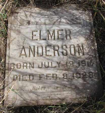 ANDERSON, ELMER H. - Dundy County, Nebraska | ELMER H. ANDERSON - Nebraska Gravestone Photos