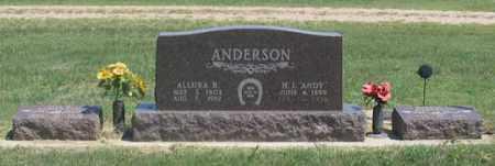 "ANDERSON, HUGH L. ""ANDY"" FAMILY GRAVE SITE - Dundy County, Nebraska | HUGH L. ""ANDY"" FAMILY GRAVE SITE ANDERSON - Nebraska Gravestone Photos"