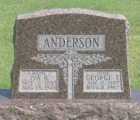 ANDERSON, GEORGE T. - Dundy County, Nebraska | GEORGE T. ANDERSON - Nebraska Gravestone Photos