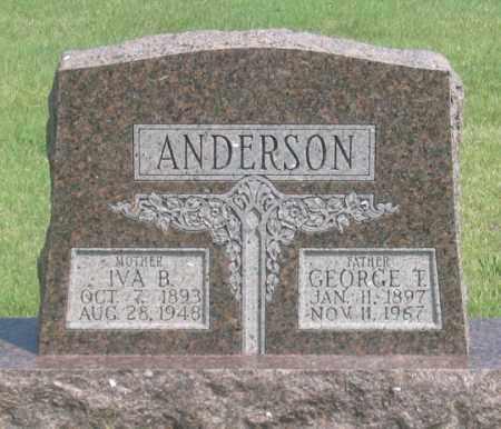 ANDERSON, IVA B. - Dundy County, Nebraska | IVA B. ANDERSON - Nebraska Gravestone Photos