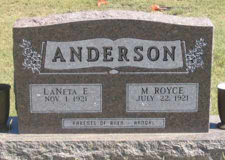ANDERSON, M. ROYCE - Dundy County, Nebraska   M. ROYCE ANDERSON - Nebraska Gravestone Photos