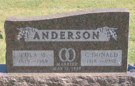 TEEL ANDERSON, LOLA M. - Dundy County, Nebraska   LOLA M. TEEL ANDERSON - Nebraska Gravestone Photos