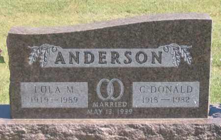ANDERSON, C. DONALD - Dundy County, Nebraska | C. DONALD ANDERSON - Nebraska Gravestone Photos