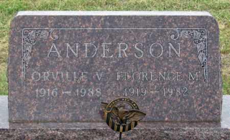 ANDERSON, ORVILLE V. - Dundy County, Nebraska   ORVILLE V. ANDERSON - Nebraska Gravestone Photos