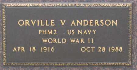 ANDERSON, ORVILLE V. - Dundy County, Nebraska | ORVILLE V. ANDERSON - Nebraska Gravestone Photos