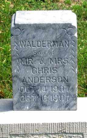 ANDERSON, WALDERMAN - Dundy County, Nebraska   WALDERMAN ANDERSON - Nebraska Gravestone Photos