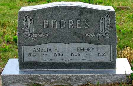 ANDRES, AMELIA H. - Dundy County, Nebraska | AMELIA H. ANDRES - Nebraska Gravestone Photos