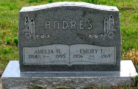 ANDRES, EMORY L. - Dundy County, Nebraska | EMORY L. ANDRES - Nebraska Gravestone Photos