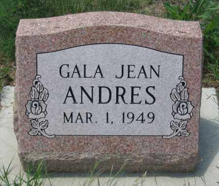 ANDRES, GALA JEAN - Dundy County, Nebraska   GALA JEAN ANDRES - Nebraska Gravestone Photos