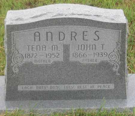 ANDRES, JOHN T. - Dundy County, Nebraska | JOHN T. ANDRES - Nebraska Gravestone Photos