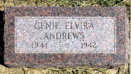 ANDREWS, GENIE ELVIRA - Dundy County, Nebraska | GENIE ELVIRA ANDREWS - Nebraska Gravestone Photos