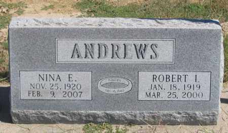 ANDREWS, ROBERT I. - Dundy County, Nebraska | ROBERT I. ANDREWS - Nebraska Gravestone Photos