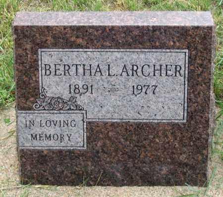ARCHER, BERTHA L. - Dundy County, Nebraska | BERTHA L. ARCHER - Nebraska Gravestone Photos