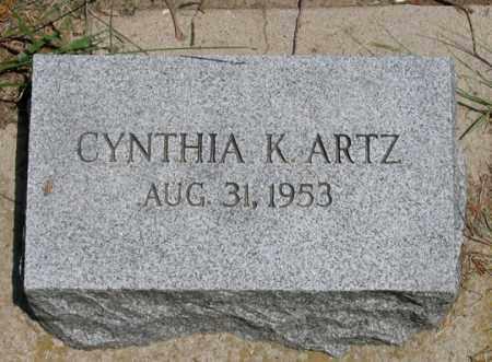 ARTZ, CYNTHIA K. - Dundy County, Nebraska | CYNTHIA K. ARTZ - Nebraska Gravestone Photos