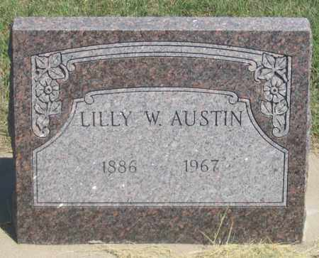 AUSTIN, LILLY W. - Dundy County, Nebraska   LILLY W. AUSTIN - Nebraska Gravestone Photos