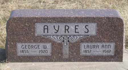 AYRES, LAURA ANN - Dundy County, Nebraska | LAURA ANN AYRES - Nebraska Gravestone Photos