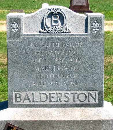 DOANE BALDERSTON, MARY - Dundy County, Nebraska | MARY DOANE BALDERSTON - Nebraska Gravestone Photos