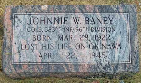 BANEY, JOHNNIE W. - Dundy County, Nebraska   JOHNNIE W. BANEY - Nebraska Gravestone Photos