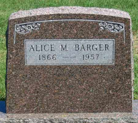 BARGER, ALICE M. - Dundy County, Nebraska | ALICE M. BARGER - Nebraska Gravestone Photos