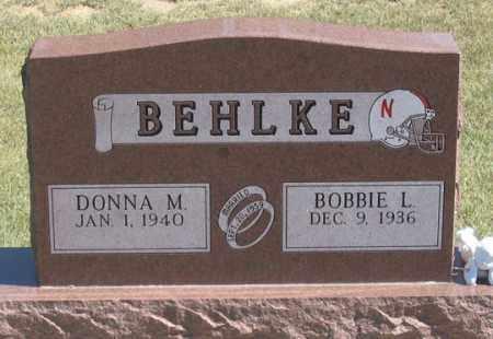BEHLKE, BOBBIE L., SR. - Dundy County, Nebraska | BOBBIE L., SR. BEHLKE - Nebraska Gravestone Photos
