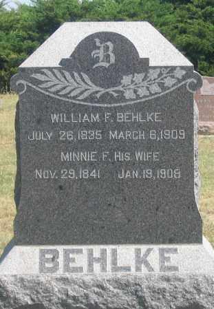 BEHLKE, MINNIE F. - Dundy County, Nebraska | MINNIE F. BEHLKE - Nebraska Gravestone Photos