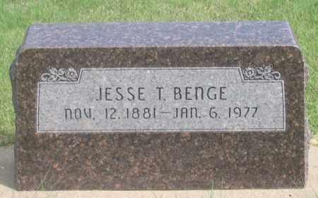 BENGE, JESSE THERLOW - Dundy County, Nebraska   JESSE THERLOW BENGE - Nebraska Gravestone Photos